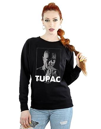 c9fae3481 2Pac Mujer Tupac Shakur Praying Camisa De Entrenamiento  Amazon.es  Ropa y  accesorios