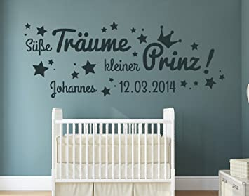 tjapalo® s-pkm155 Wandtattoo Baby Name Wandtattoo süße träume ...