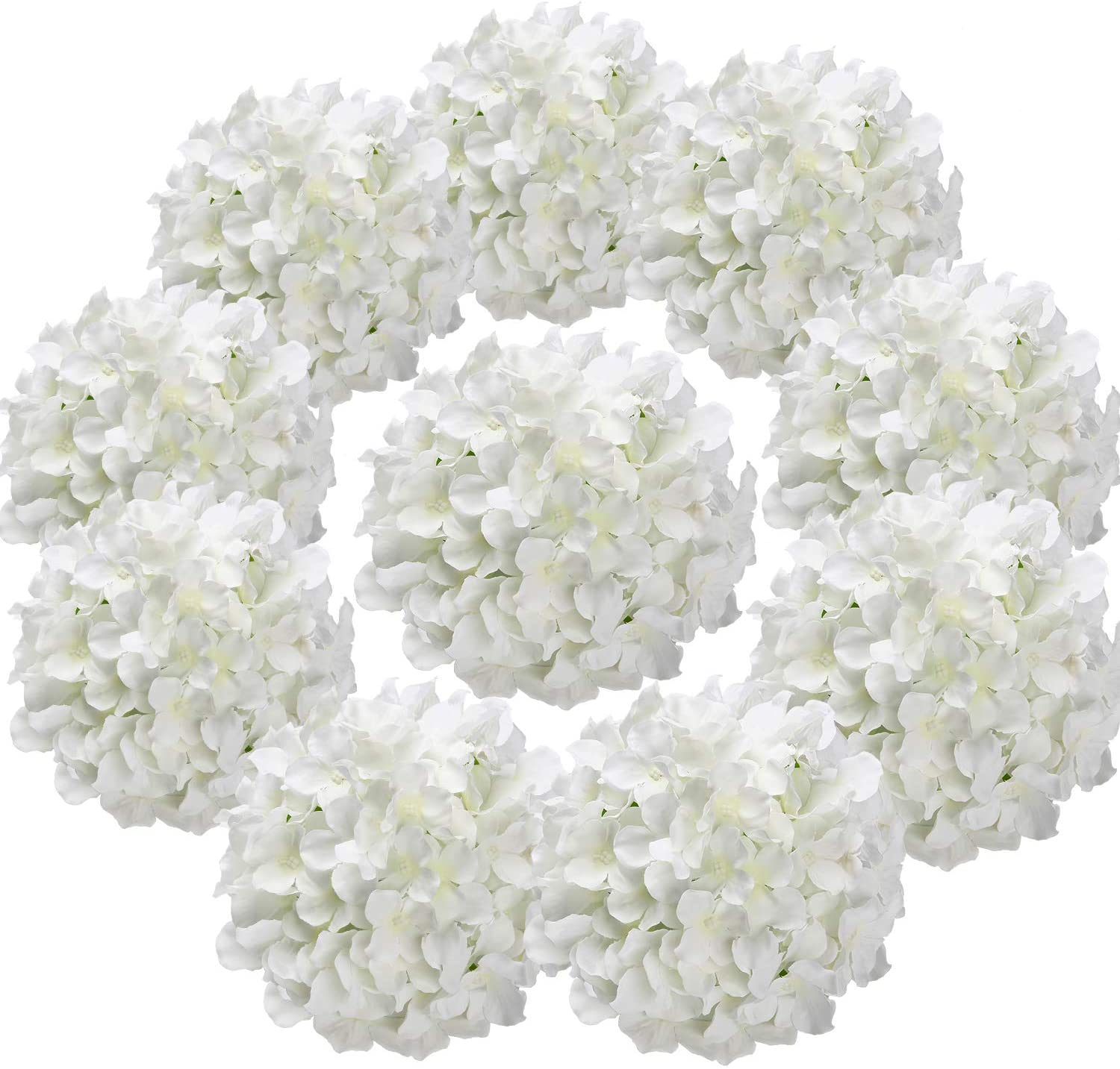 Amazon Com Flojery Silk Hydrangea Heads Artificial Flowers Heads
