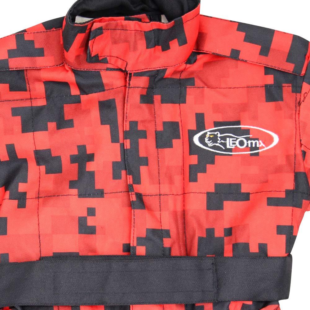 Leopard Traje de Motocross para Ni/ños Bicicleta Moto ATV Patio Ropa Chaqueta de Protecci/ón 11-12 A/ños Verde XL