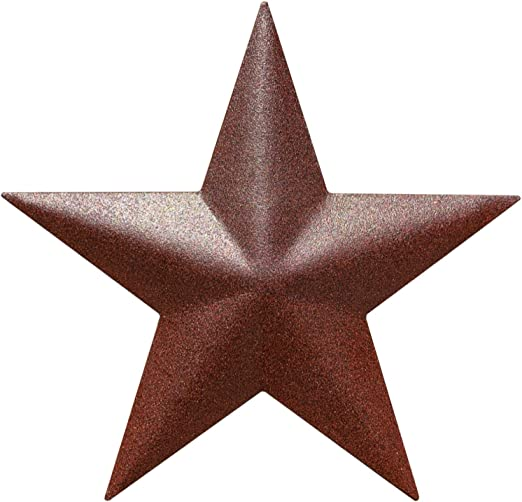 """Barn Star - Metal Stars for Outside Texas Stars Art Rustic Vintage Western  Country Home Farmhouse Wall Decor (5"""")"""