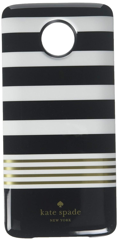 Kate Spade New York Wireless Charging Power Pack 2220mAh Moto Mod for Moto  Z/Moto Z Force/Moto Z Play Droid - Black and White Stripe/Gray