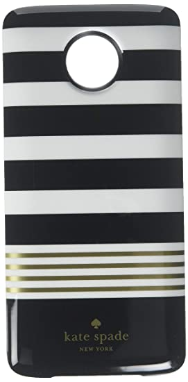reputable site e6a87 036f9 Kate Spade New York Wireless Charging Power Pack 2220mAh Moto Mod for Moto  Z/Moto Z Force/Moto Z Play Droid - Black and White Stripe/Gray