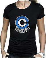 DRAGON BALL - Tshirt DBZ Capsule Corp femme MC black