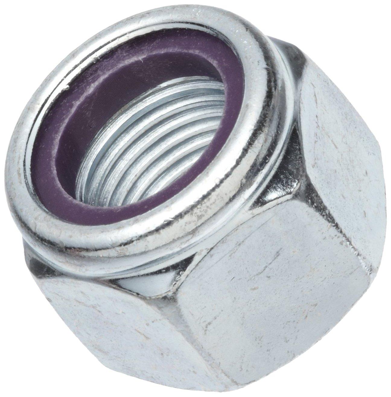Steel Hex Nut 1-1//4-7 Threads Self-Locking Nylon Insert Grade 2 Right Hand Threads Zinc Plated Finish 2.038 Width Across Flats 1-1//4-7 Threads 2.038 Width Across Flats Continental-Aero 41NE207