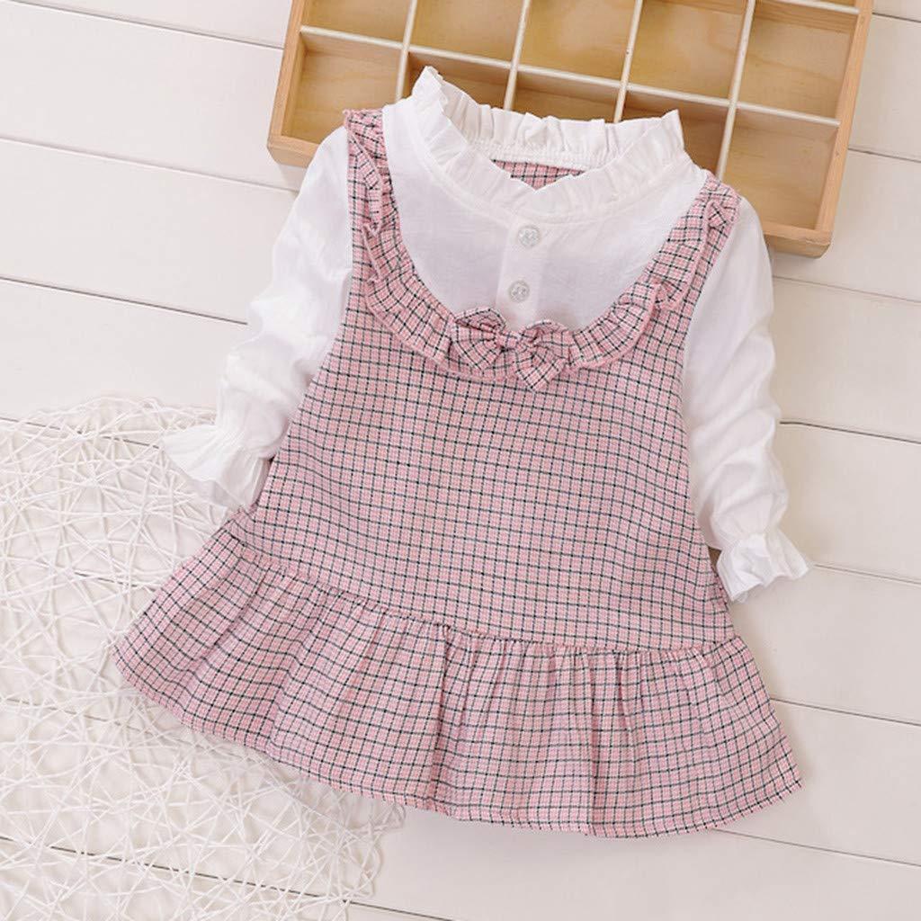 a Cuadros Cyeer Vestidos de beb/é para ni/ña con Volantes de Primavera y Fruncidos