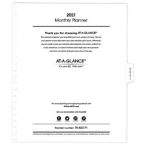 Amazon.com: AT-A-GLANCE 2019 - Recambio de planificador ...