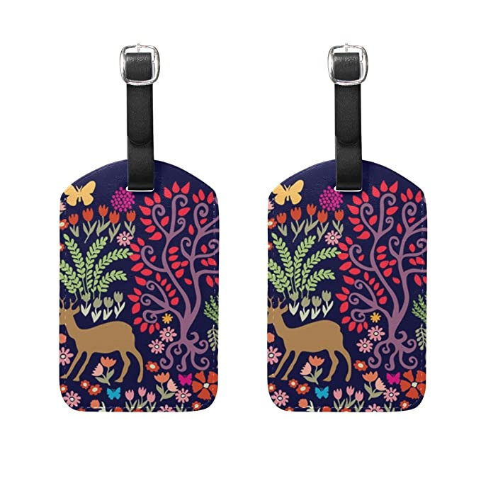 Amazon com   Travel Luggage Tag Fantasy Forest Animals and