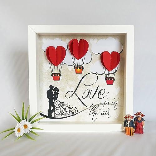 Bilderrahmen 3d Geschenk Liebe Herz Luftballone Heissluftballon