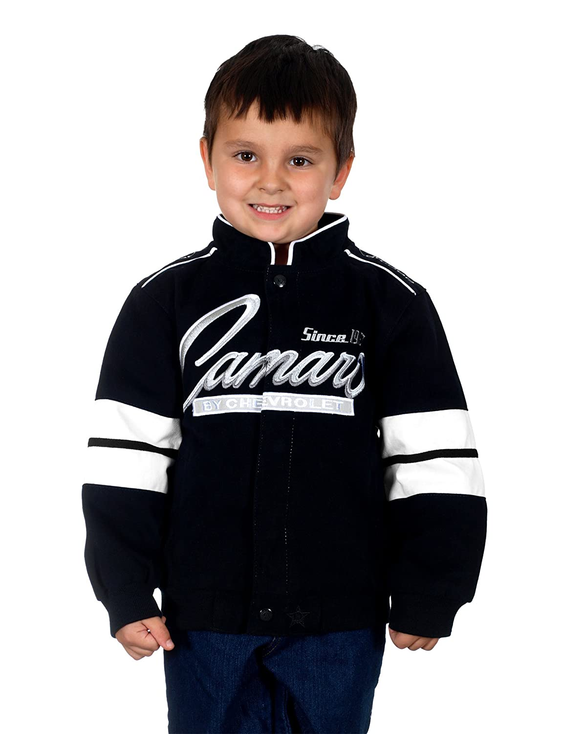 J.H. Design Kid's Chevy Camaro Racing Style Jacket (5) CAM302RAC4BLK