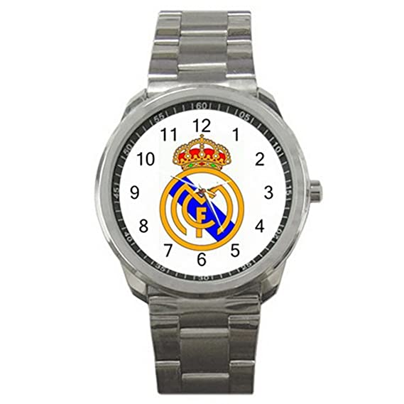 Real Madrid Spain Soccer Football ES9WLGO704 Relojes de pulsera Mens Wristwatches Stainless Steel