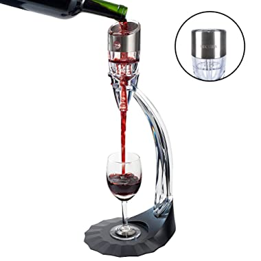 Secura Deluxe Wine Aerator Aerating Pourer Spout and Decanter with 6 speeds of Aeration