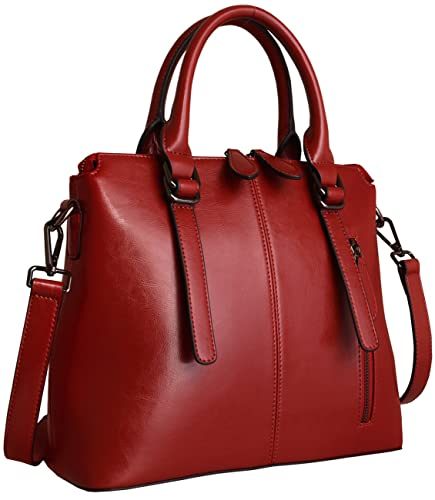 Heshe Women's Handbags Stuctured Shoulder Tote Cross Body Bags Purses for Ladies