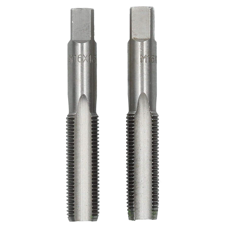 M16 x 1,5 mm Jeu de tarauds m/étriques de conicit/é et bouchon coupe fil TD003 lacier de tungst/ène