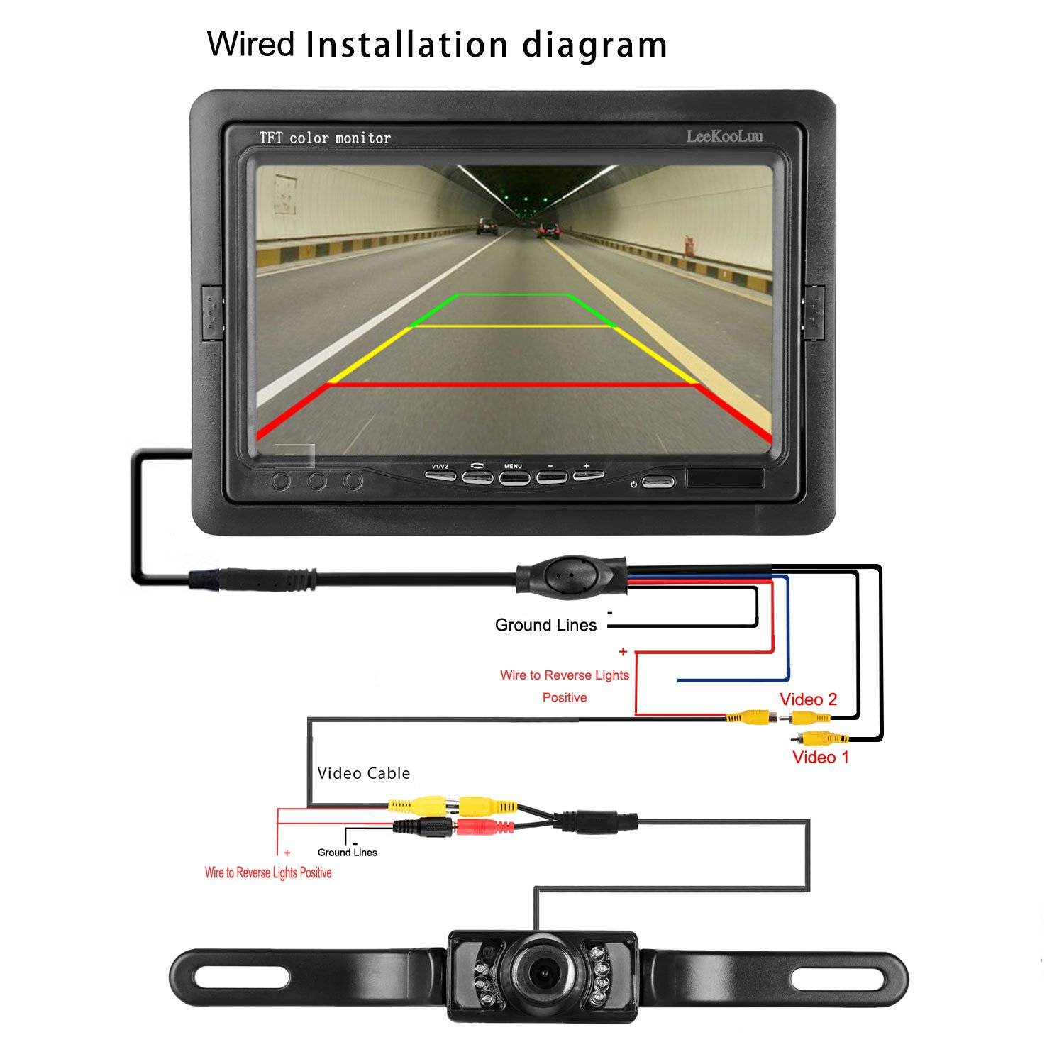 Tft Backup Camera Wiring Diagram - Trusted Wiring Diagrams •