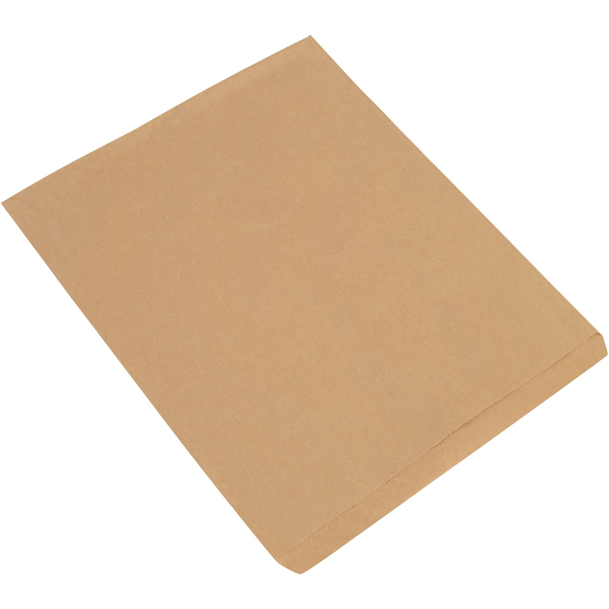Flat Merchandise Bags, 15'' x 18'', Kraft, 500/Case