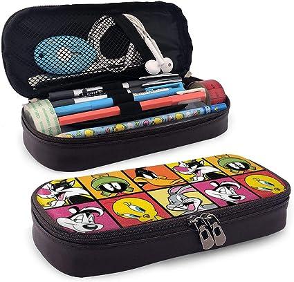 Looney Tunes - Estuche para lápices, gran capacidad, estuche para lápices, estuche para lápices, con varios compartimentos para niños y niñas: Amazon.es: Oficina y papelería