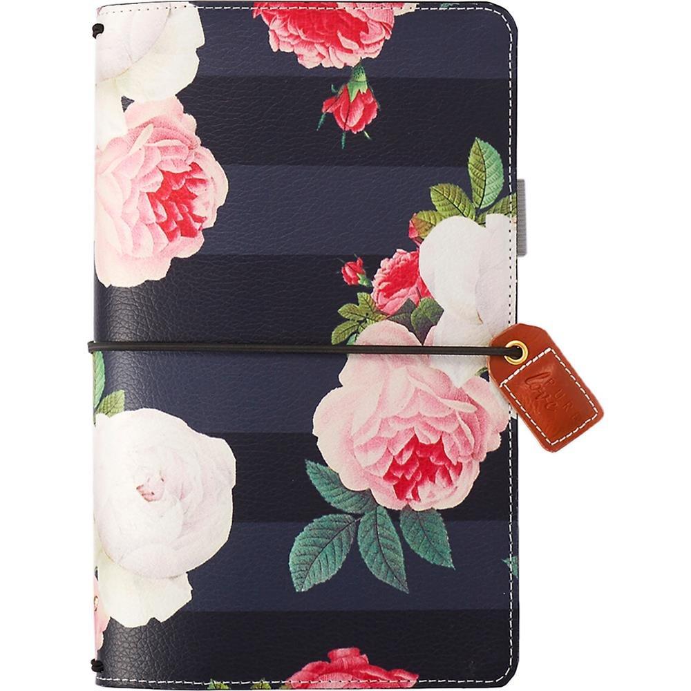 Webster's Pages Black Floral Traveler Notebook (TJ001-BF)