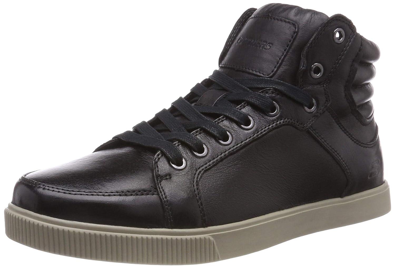 Skechers Volden-Meric, Zapatillas Altas para Hombre 45 EU|Negro (Black Blk)