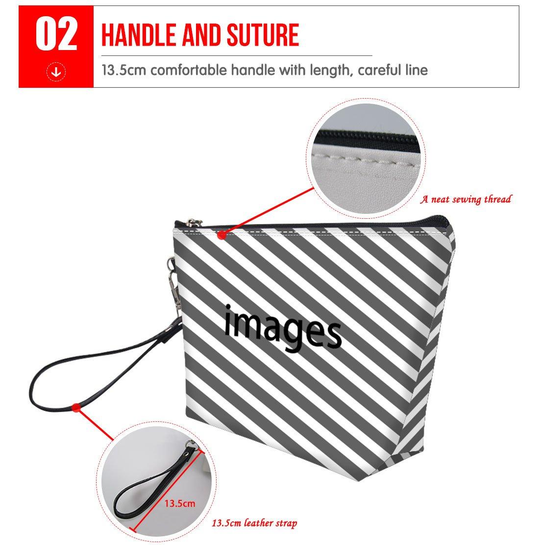 Mumeson Floral Schnauzer Pattern Trapezoid Make Up Bags Clutch Handbags by Mumeson (Image #3)