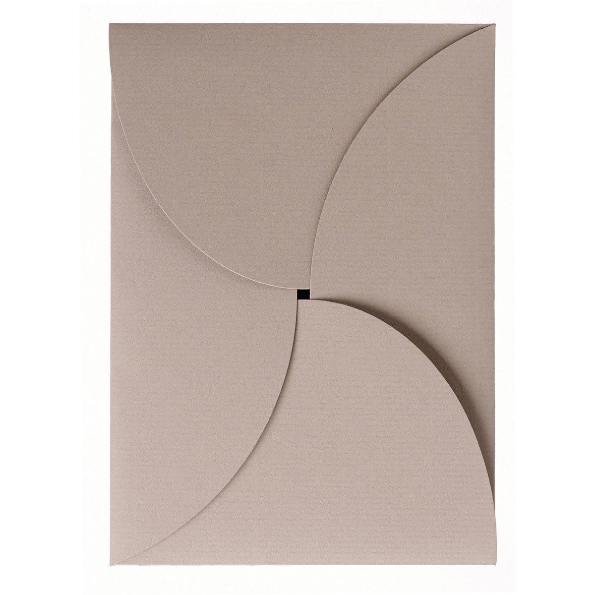 Rössler Papier - - P.S. Karte, Twist B6, Taupe, gerippt, gerippt, gerippt, 220 g m² - Liefermenge  25 Stück B07CX6Y1W9 |   505336