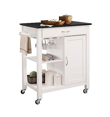 Amazon.com: Acme Muebles Carrito de cocina de Ottawa ...