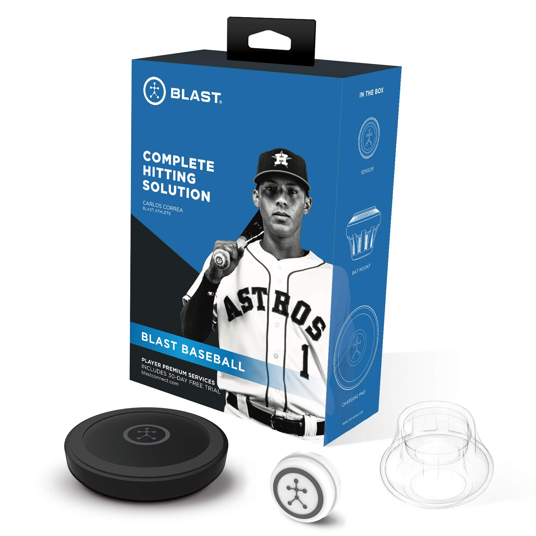 Blast Baseball Swing Trainer | Analyzes Swing | Tracks Metrics | Video Capture Creates Highlights | App Enabled, iOS and Android Compatible | Real Time Results by Blast Motion