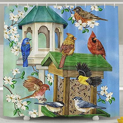 ALDFK Personalized Waterproof Shower Curtain Welcome To Birdhouse Bathroom Curtains 60x72 Inches
