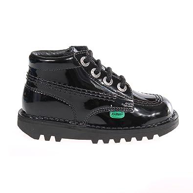 best sneakers 8e6a3 ce4e6 KICKERS Kick Hi Patent Infant Toddler Kids School Shoe Boot, UK 5