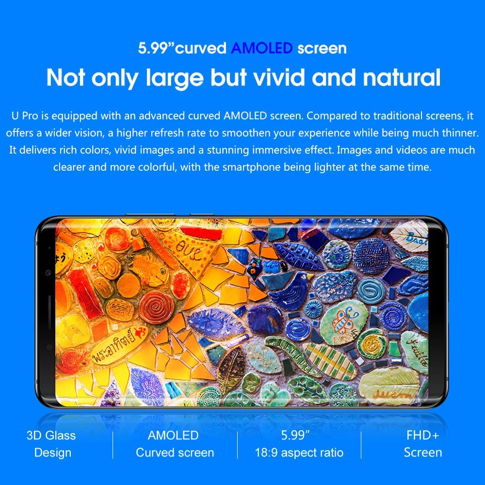 Elephone U Pro - Smartphone 6 + 128GB Android 8.0 Qualcomm ...