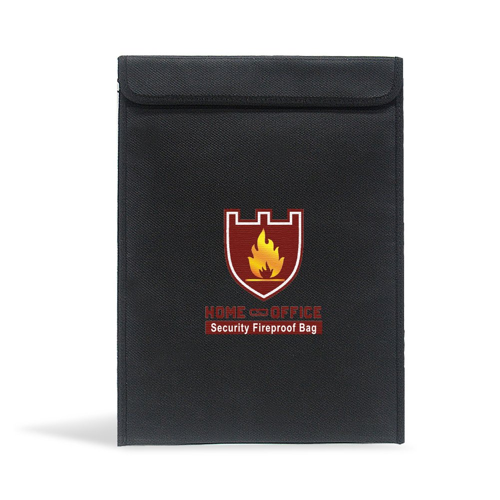 15''x11'' security Fireproof Bag,Fdatai fireproof security document holder,perfect safe fireproof bag for Money/ Passport/ Legal Documents Protection - Black colour