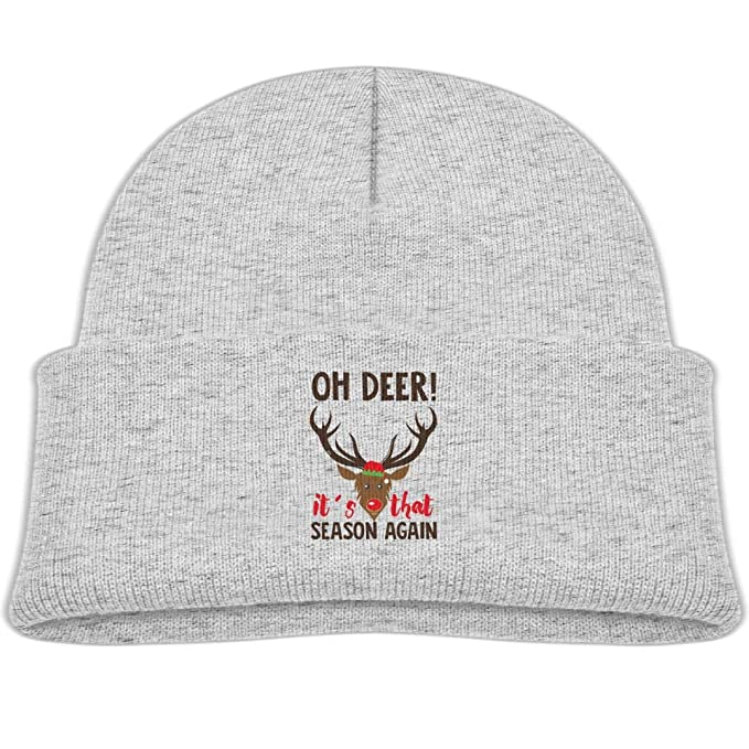 7853ebeb6a3 Amazon.com  Oh Deer It s That Season Again Skull Hat Baby Girl Boy ...