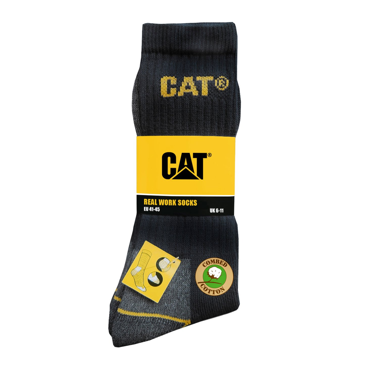 Caterpilar - Calcetines gruesos para trabajar hombre/caballero - 3 pares de calcetines: Amazon.es: Ropa y accesorios
