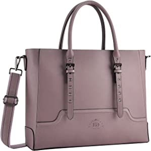 Laptop-Bag-for-Women,17 Inch Laptop-Tote-Bag, Work Bag Business Briefcase with Comfortable Shoulder Strap for Office Ladies College Girl Carrying,purple