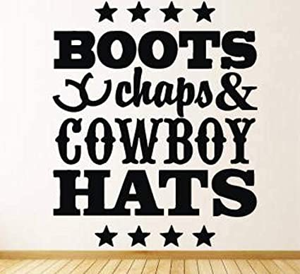 Amazon.com Wild West Country Cowboy Hat Western Quote Horse