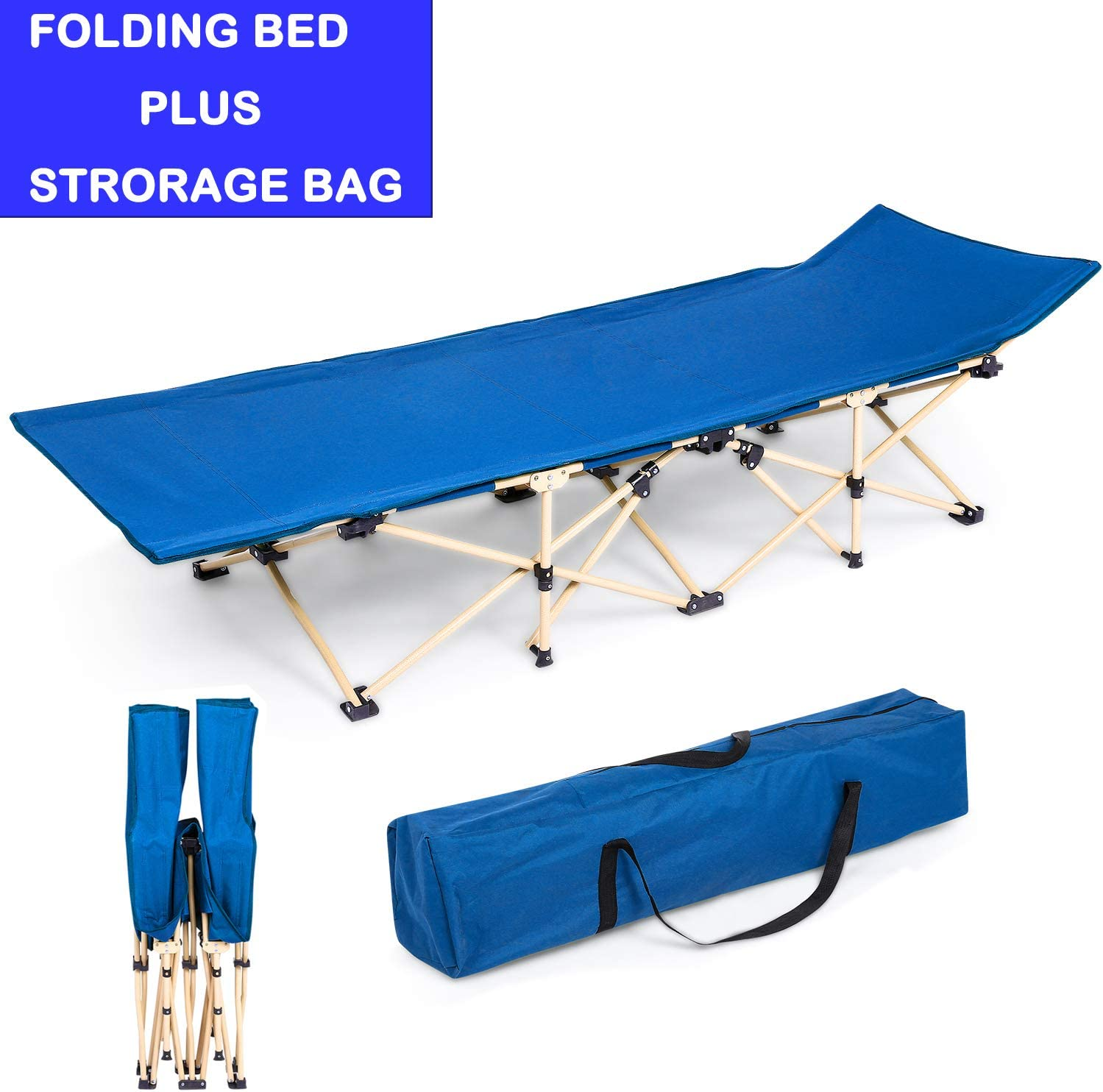 Miageek US Stock Cots Bed for Sleeping Beach Yard Pool Folding Reclining Adjustable Chaise Lounge Chair Outdoor Recliner Patio Sun Loungers