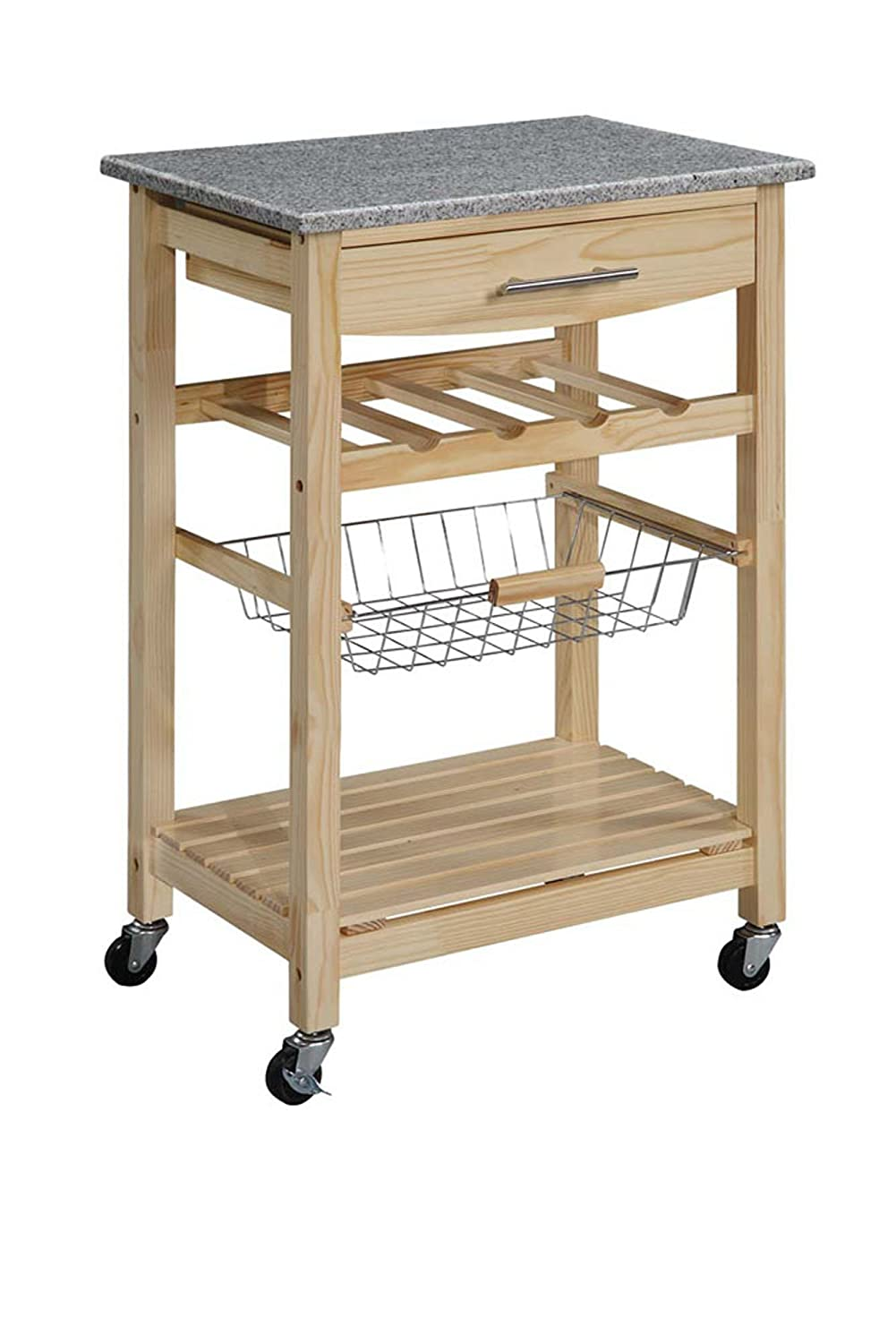 Granite Top Kitchen Island Cart Amazoncom Linon Kitchen Island Granite Top Bar Serving Carts
