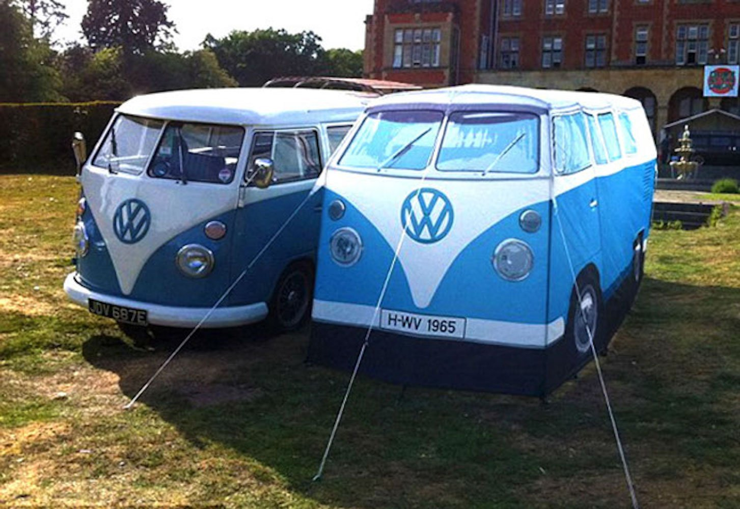 Amazon.com  VW Volkswagen T1 C&er Van Adult C&ing Tent - Blue - Multiple Color Options Available  Sports u0026 Outdoors : vw bus tents - memphite.com
