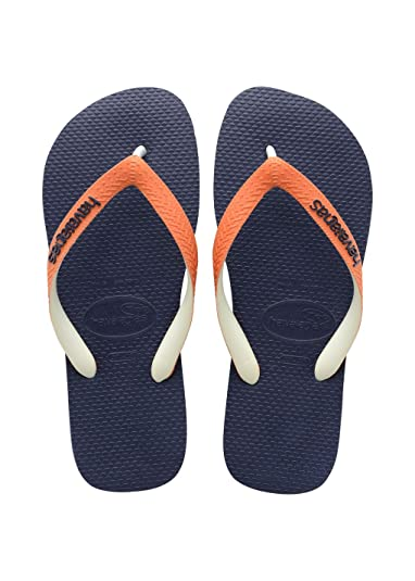 2f635f305610 Havaianas Top Mix Navy Orange Flip Flops - UK 8-9  Amazon.co.uk  Shoes    Bags