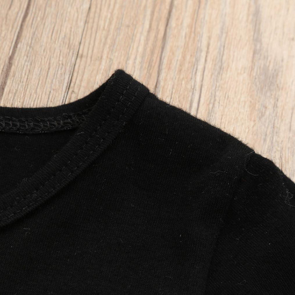 Negro, Tama/ño:2-3 A/ños Conjuntos beb/é Ni/ño ❤️ Amlaiworld Reci/én nacido Ni/ño peque/ño ni/ños beb/és camiseta Tops Camisas y pantalones cortos de camuflaje Conjunto de ropa trajes de Chico