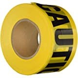 Saad Traders 3 Inches Yellow Caution Tape Sticker For Safety Barrier For Police Barricade For Constractors