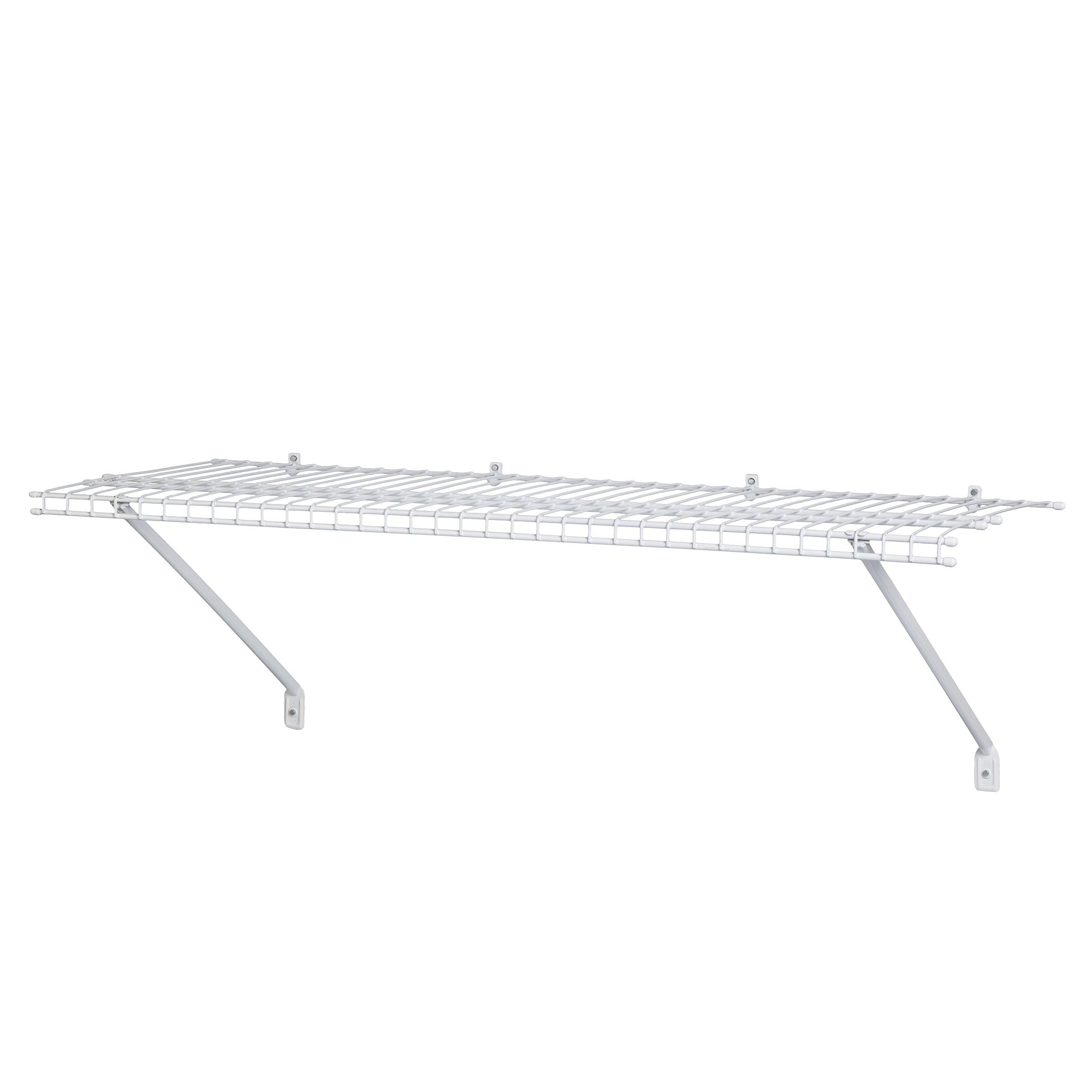 ClosetMaid 51031 Wire Shelf Kit, 3-Feet, White by ClosetMaid