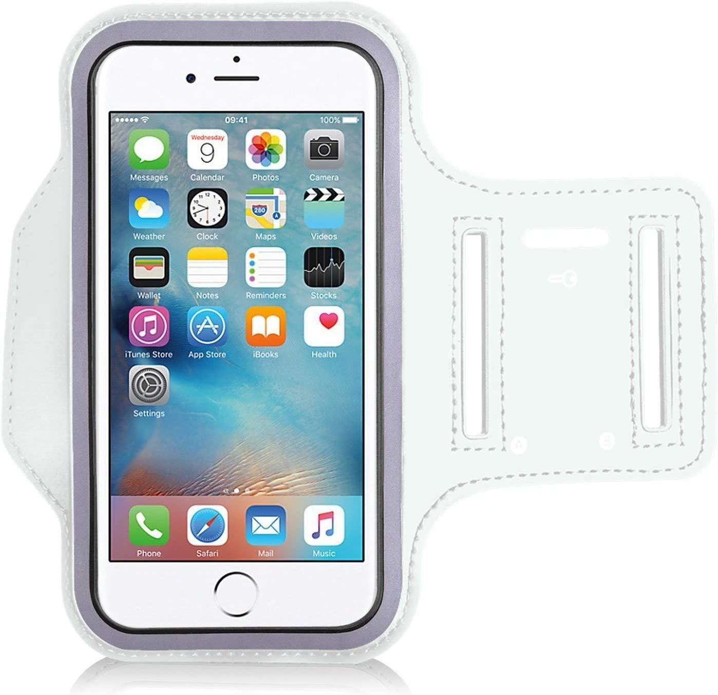 Universal Exercise Sports Armband for Touch 7 DN-Technology Running Armband with Key Holder for Apple iPod Touch 7 WHITE