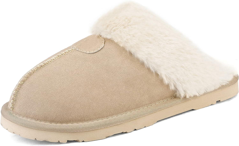 DREAM PAIRS Women's Cozy Indoor Outdoor Winter House Slippers