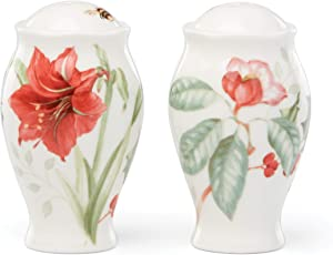Lenox Butterfly Meadow Holiday Salt & Pepper, 0.60 LB, Red & Green