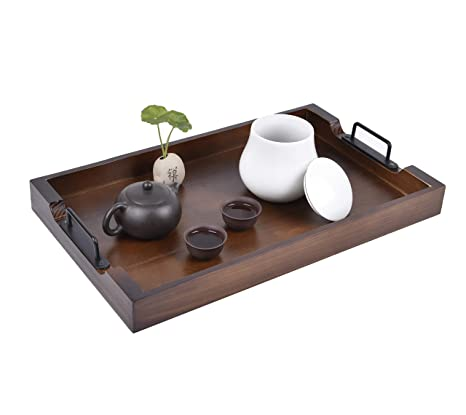 Miraculous Large Ottoman Tray With Handles 20 Inch Wooden Serving Trays For Ottomans Farmhouse Tray For Ottoman Wood Trays For Coffee Table Wood Tray Gmtry Best Dining Table And Chair Ideas Images Gmtryco
