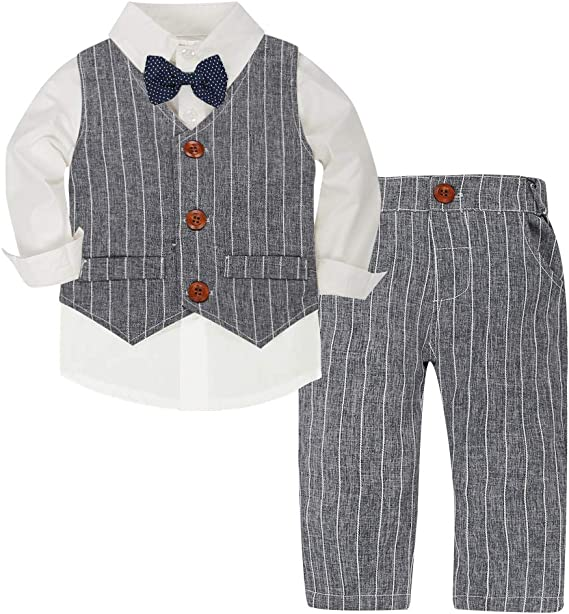 CARETOO - Conjunto de Ropa para bebé y niño de Manga Larga, Camisa ...