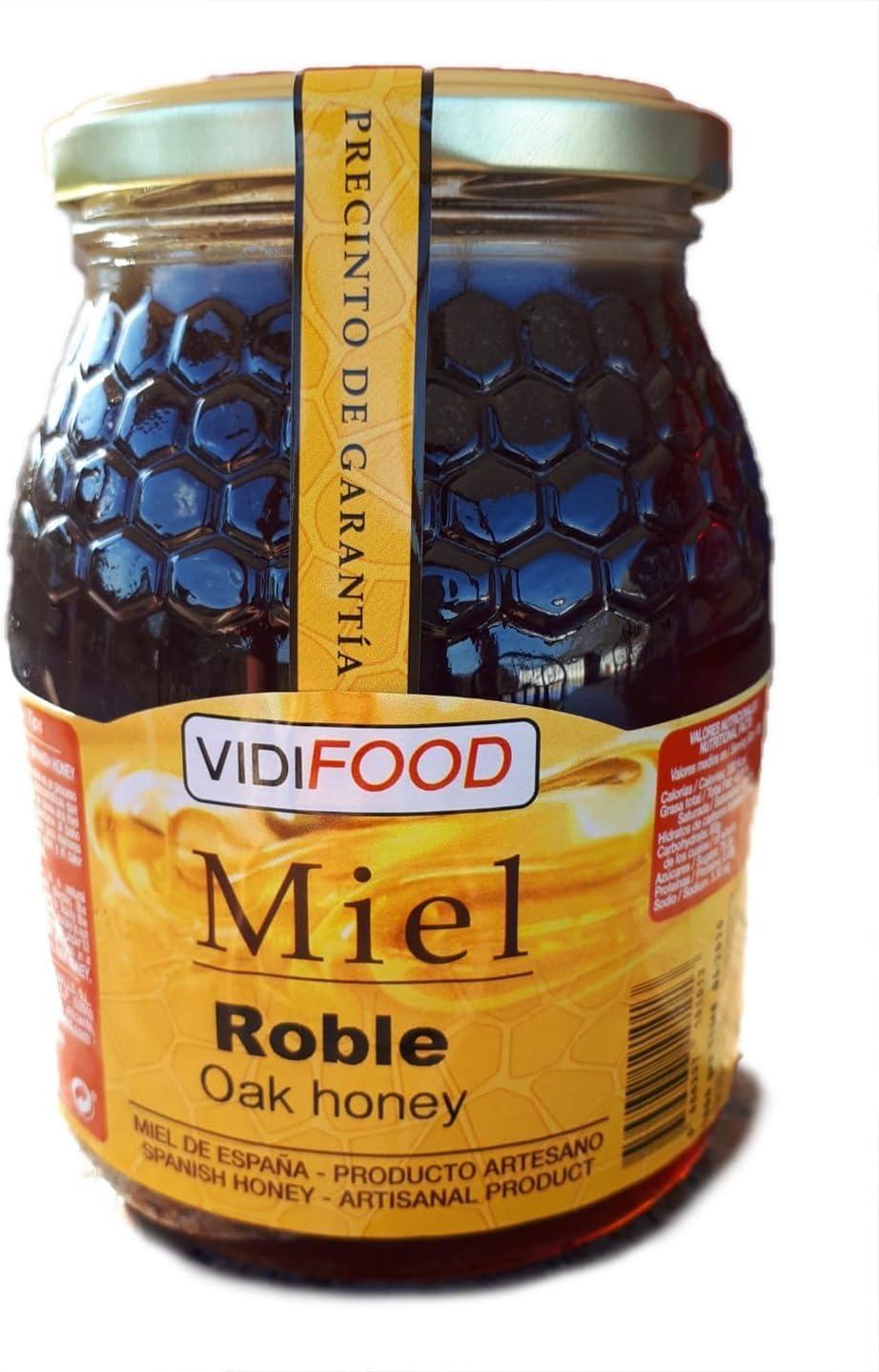 Miel de Roble - 1kg - Producida en España - Tradicional & 100% pura - Aroma Floral y Sabor Rico y Dulce: Amazon.es: Alimentación y bebidas