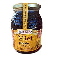 Miel de Roble - 1kg - Producida en España - Alta Calidad, tradicional & 100% pura - Aroma Floral y Sabor Rico y Dulce - Amplia variedad de Deliciosos Sabores
