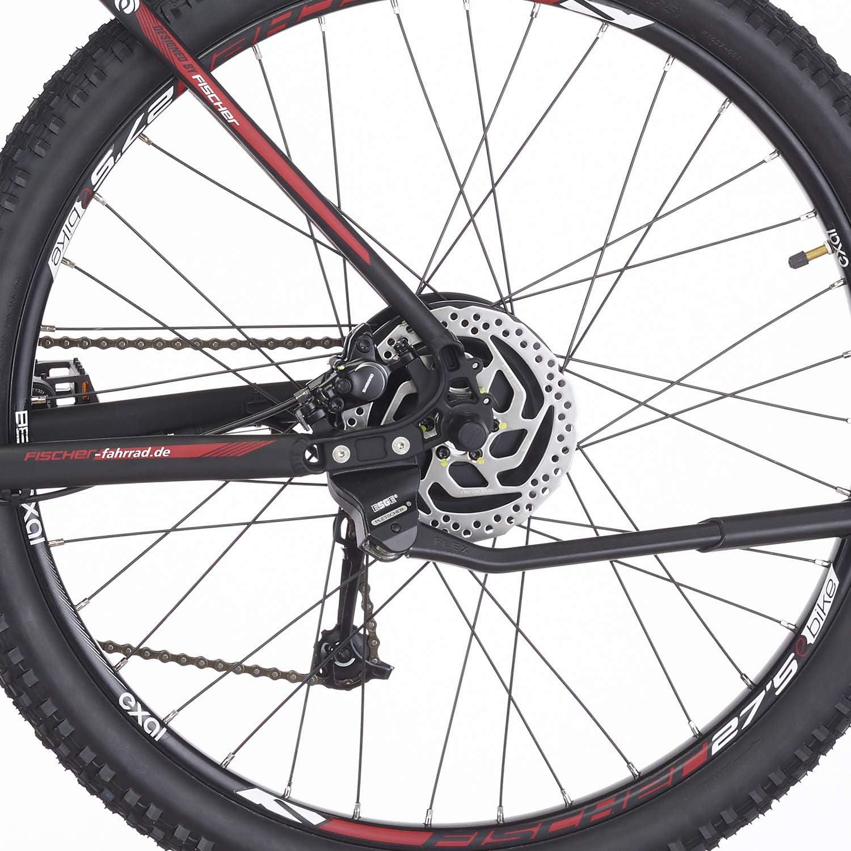 schwarz matt 48 V Akku RH 48 cm FISCHER E-Bike MTB EM 1726 Hinterradmotor 45 Nm 27,5